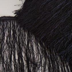 """Бахрома шелковая """"Черный"""" 20 см"""