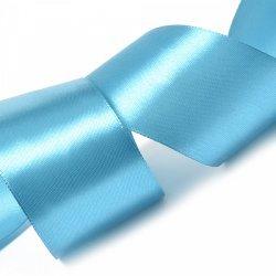 """Атласная лента """"Небесно- голубой"""" 5 см"""